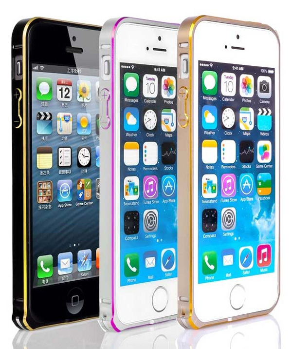 Gold Iphone 5 Bumper Protection IPS502_47