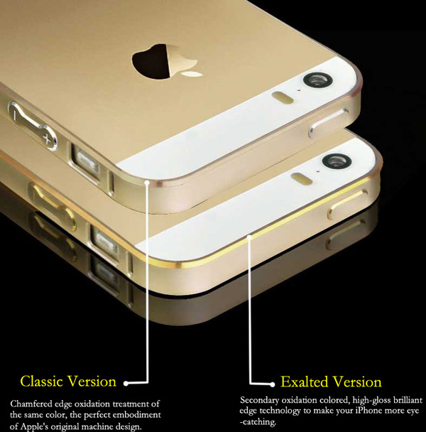 Gold Iphone 5 Bumper Protection IPS502_5