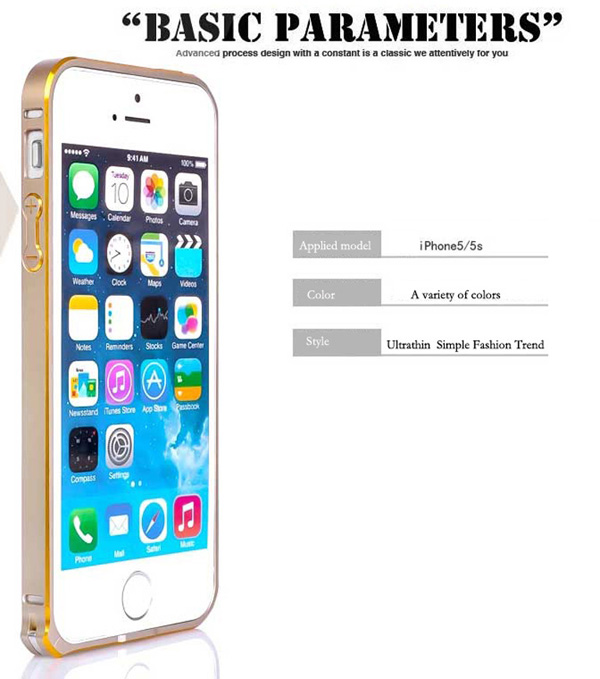 Gold Iphone 5 Bumper Protection IPS502_7