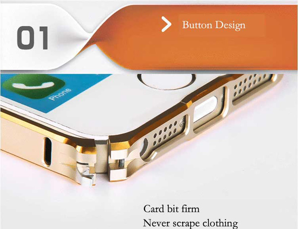 Gold Iphone 5 Bumper Protection IPS502_8
