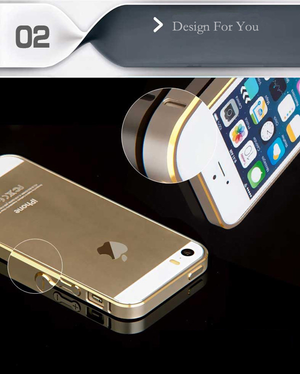 Gold Iphone 5 Bumper Protection IPS502_9