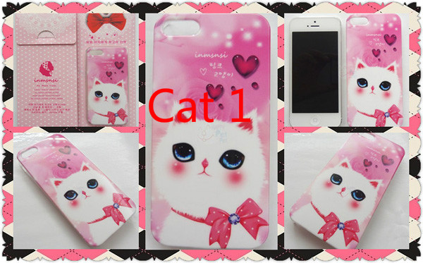 Cute Animal Dog And Cat iPhone 5s Cases IPS505_5