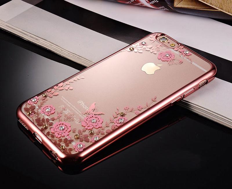 Diamond iPhone SE iPhone 8 7 6 6S Plus 5S Luxury Protective Silicone Sleeve Cases IPS506_10