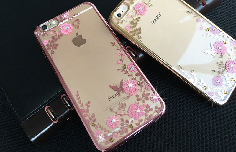 Diamond iPhone SE iPhone 8 7 6 6S Plus 5S Luxury Protective Silicone Sleeve Cases IPS506_12