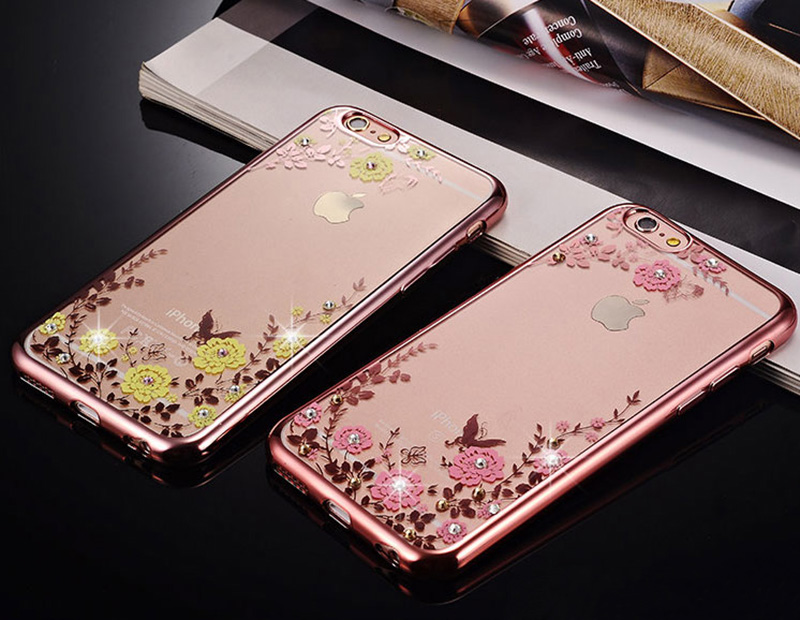 Diamond iPhone SE iPhone 8 7 6 6S Plus 5S Luxury Protective Silicone Sleeve Cases IPS506_6