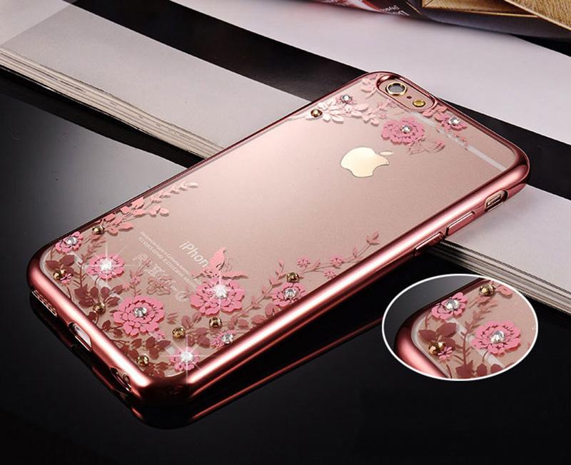 Diamond iPhone SE iPhone 8 7 6 6S Plus 5S Luxury Protective Silicone Sleeve Cases IPS506_7