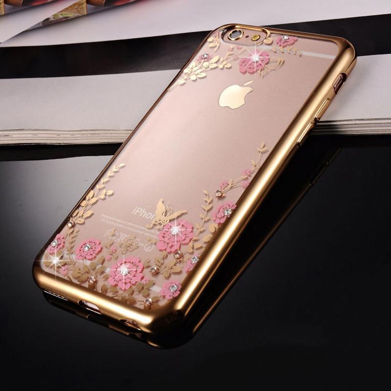 Diamond iPhone SE iPhone 8 7 6 6S Plus 5S Luxury Protective Silicone Sleeve Cases IPS506_8