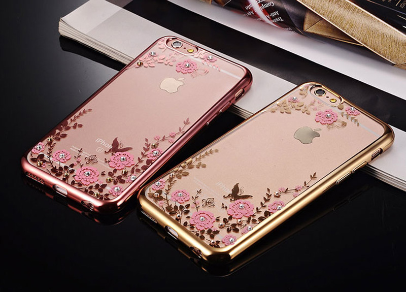 Diamond iPhone SE iPhone 8 7 6 6S Plus 5S Luxury Protective Silicone Sleeve Cases IPS506_9