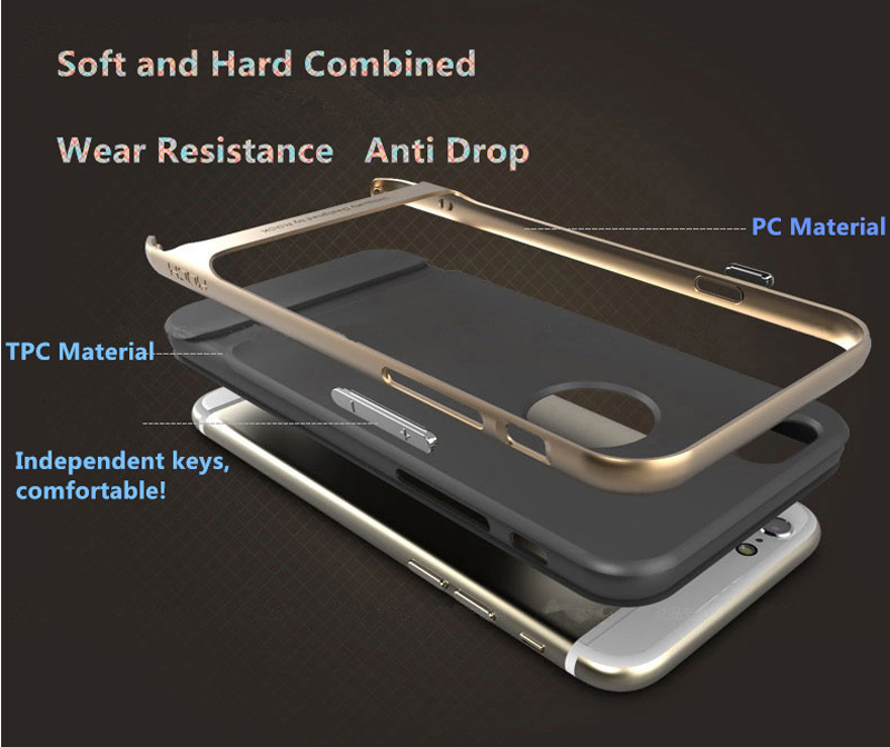 Best Golden Metal Protective iPhone 8 7 6 6S Plus Case Cover For Apple IPS605_10