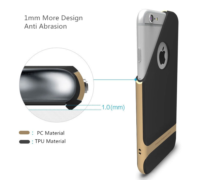 5e41cbbf90 Best Golden Metal Protective iPhone 8 7 6 6S Plus Case Cover For Apple  IPS605_11