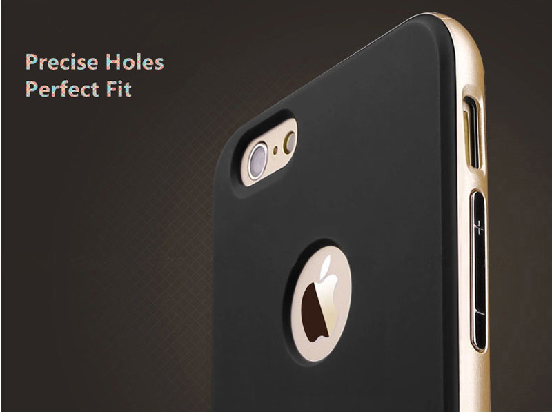 Best Golden Metal Protective iPhone 8 7 6 6S Plus Case Cover For Apple IPS605_8