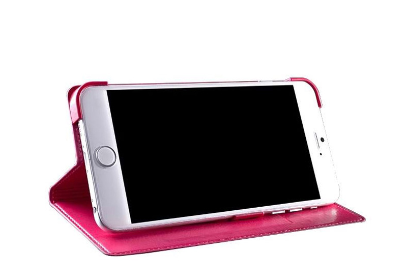 Best Leather iPhone 6 And Plus Cover With Card Slot Stand IPS610_16