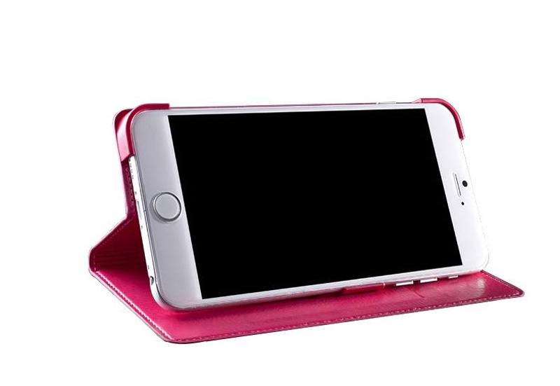 Best Leather iPhone 6 And Plus Cover With Card Slot Stand IPS610_22