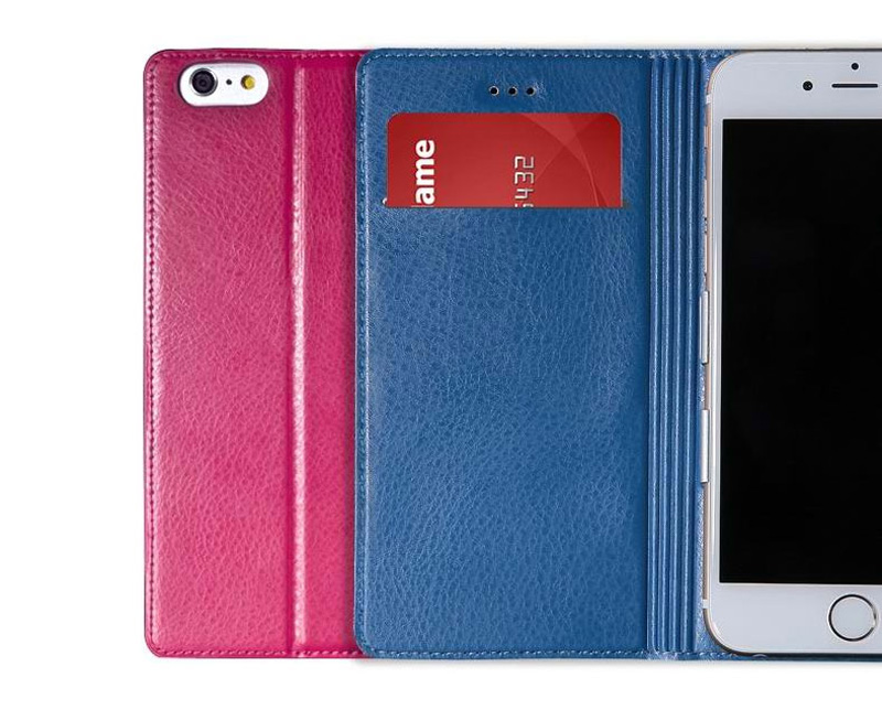 Best Leather iPhone 6 And Plus Cover With Card Slot Stand IPS610_26