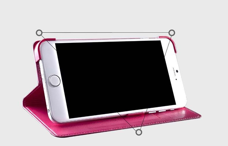 Best Leather iPhone 6 And Plus Cover With Card Slot Stand IPS610_6