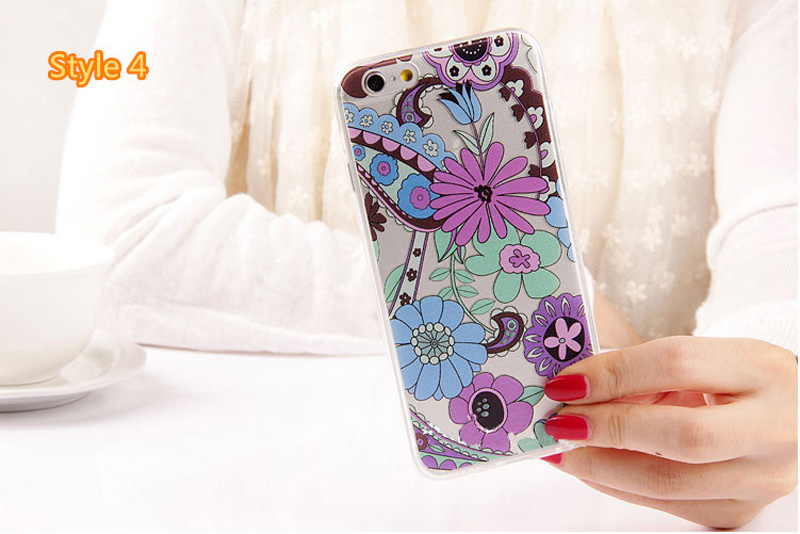 Best Cool Laser Painting Pattern Silicone Apple iPhone 6 And 6 Plus Cases IPS611_26