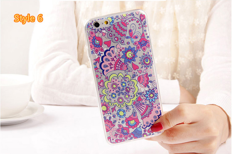 Best Cool Laser Painting Pattern Silicone Apple iPhone 6 And 6 Plus Cases IPS611_29