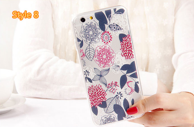 Best Cool Laser Painting Pattern Silicone Apple iPhone 6 And 6 Plus Cases IPS611_34
