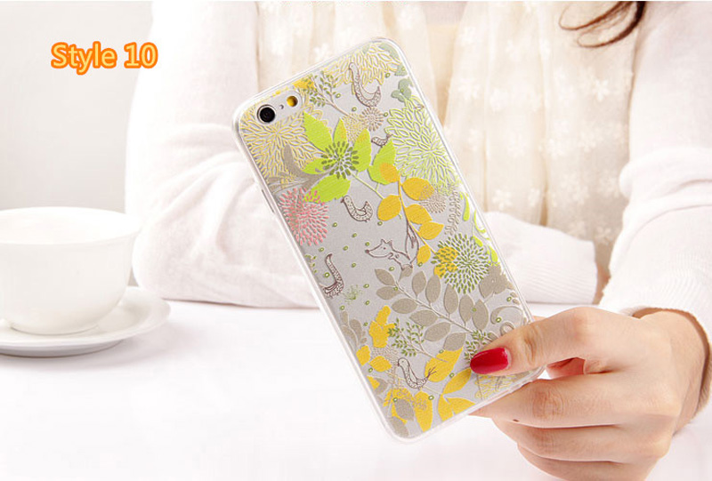 Best Cool Laser Painting Pattern Silicone Apple iPhone 6 And 6 Plus Cases IPS611_38