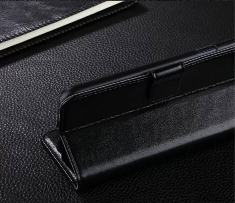 Cheap Black Leather iPhone 6 And 6 Plus Phone Wallets Case With A Card Holder IPS614_11