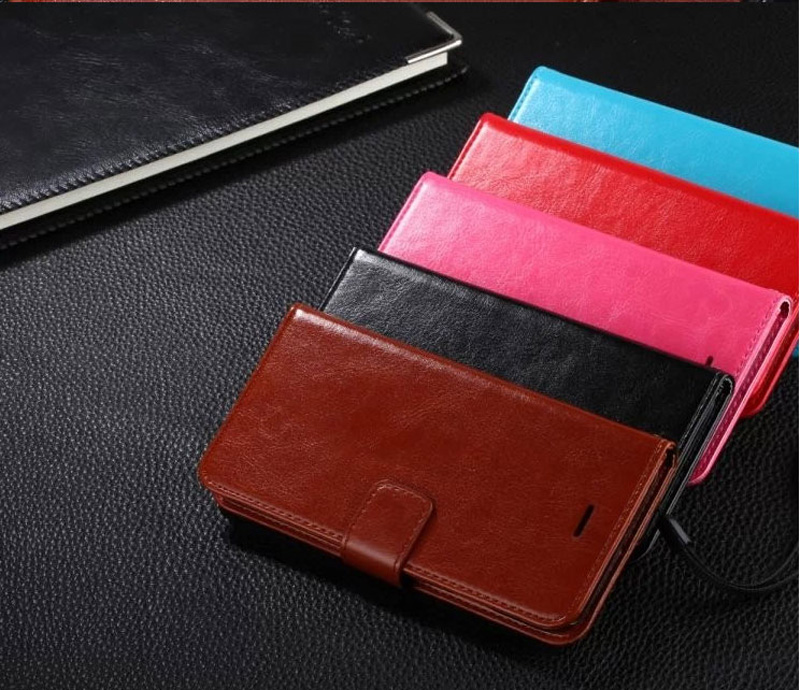Cheap Black Leather iPhone 6 And 6 Plus Phone Wallets Case With A Card Holder IPS614_25