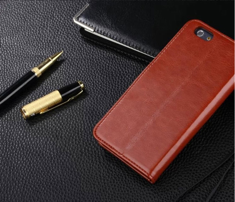 Cheap Black Leather iPhone 6 And 6 Plus Phone Wallets Case With A Card Holder IPS614_8