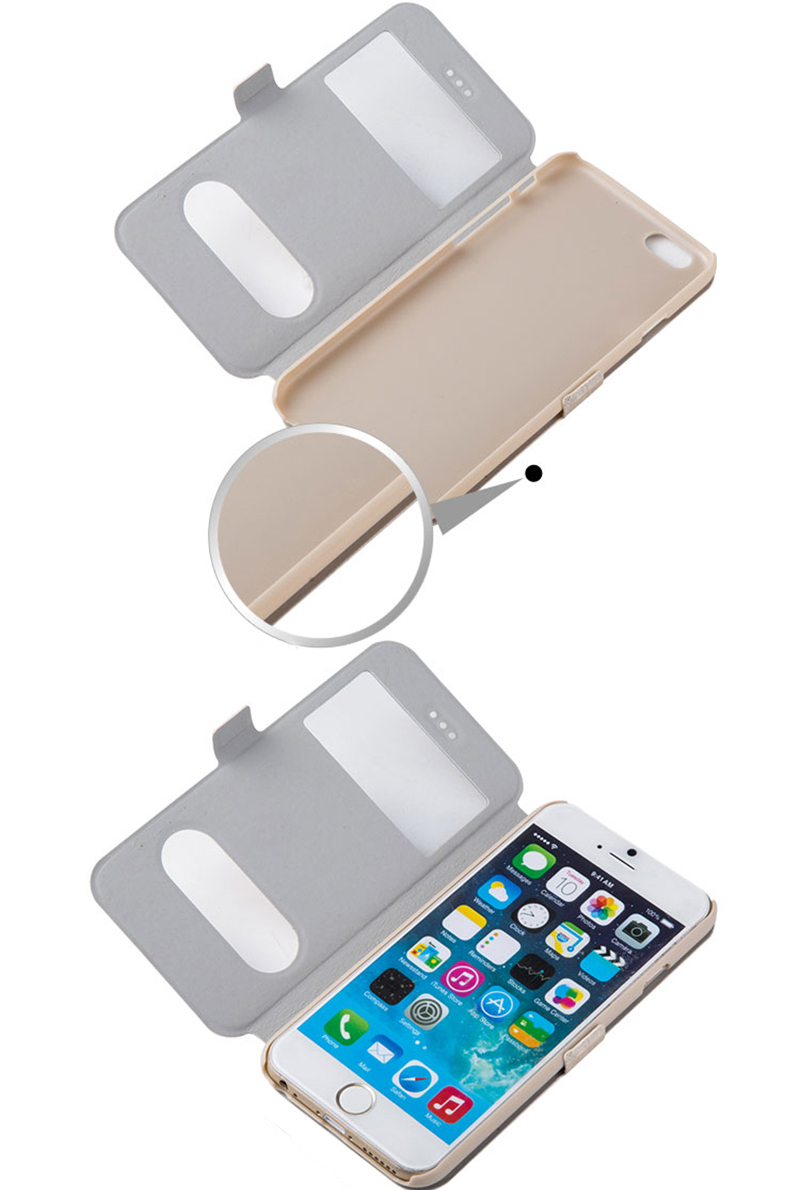 Cheap Leather iPhone 6 Plus Covers Apple iPhone 6 Phone Cases IPS615_12