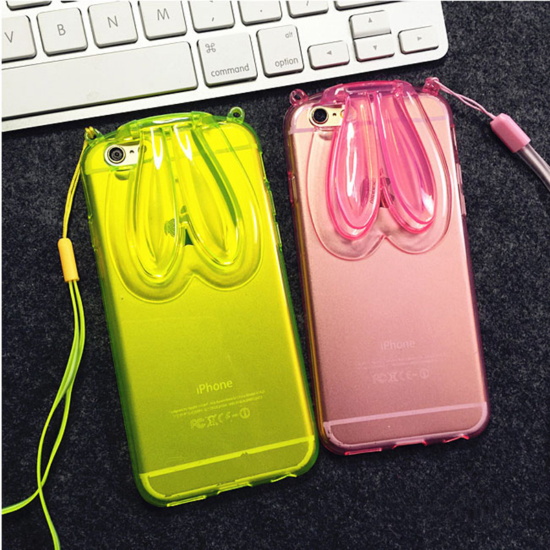 Beautiful iPhone 6 5S 6Plus Cases Or Covers With Rabbit Ears Stand For Women IPS622_13