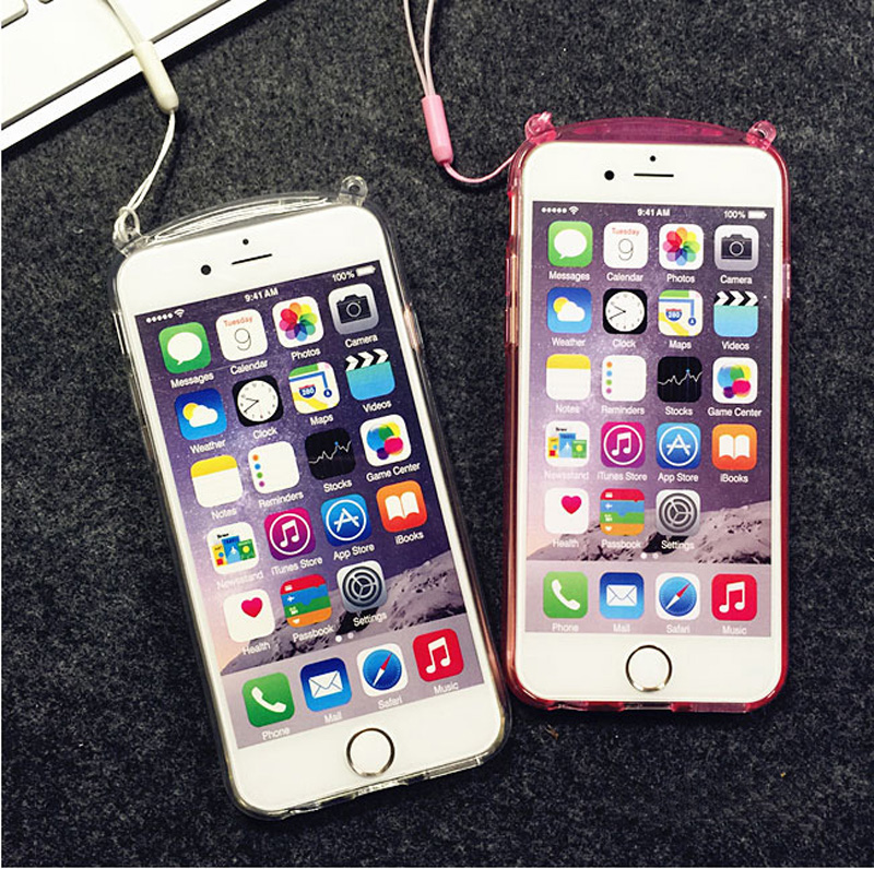 Beautiful iPhone 6 5S 6Plus Cases Or Covers With Rabbit Ears Stand For Women IPS622_7