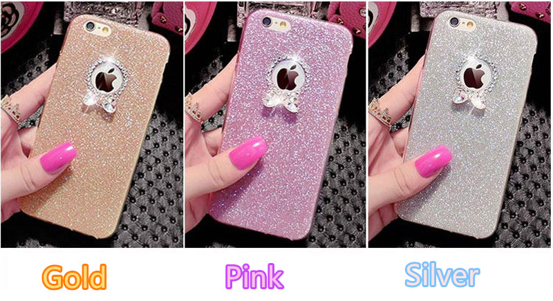 2019 Best Gold iPhone 8 7 6S And 6 Plus 5S SE Case Cover With Dazzling Diamond IPS623_10