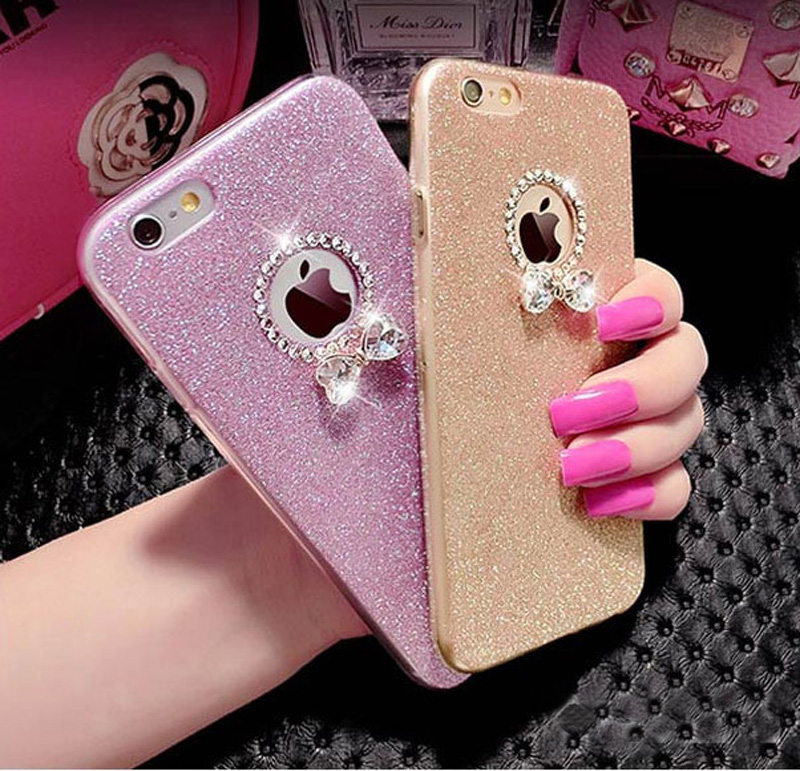 2018 Best Gold iPhone 8 7 6S And 6 Plus 5S SE Case Cover With Dazzling Diamond IPS623_4