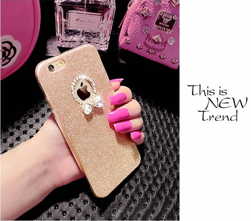 2019 Best Gold iPhone 8 7 6S And 6 Plus 5S SE Case Cover With Dazzling Diamond IPS623_5