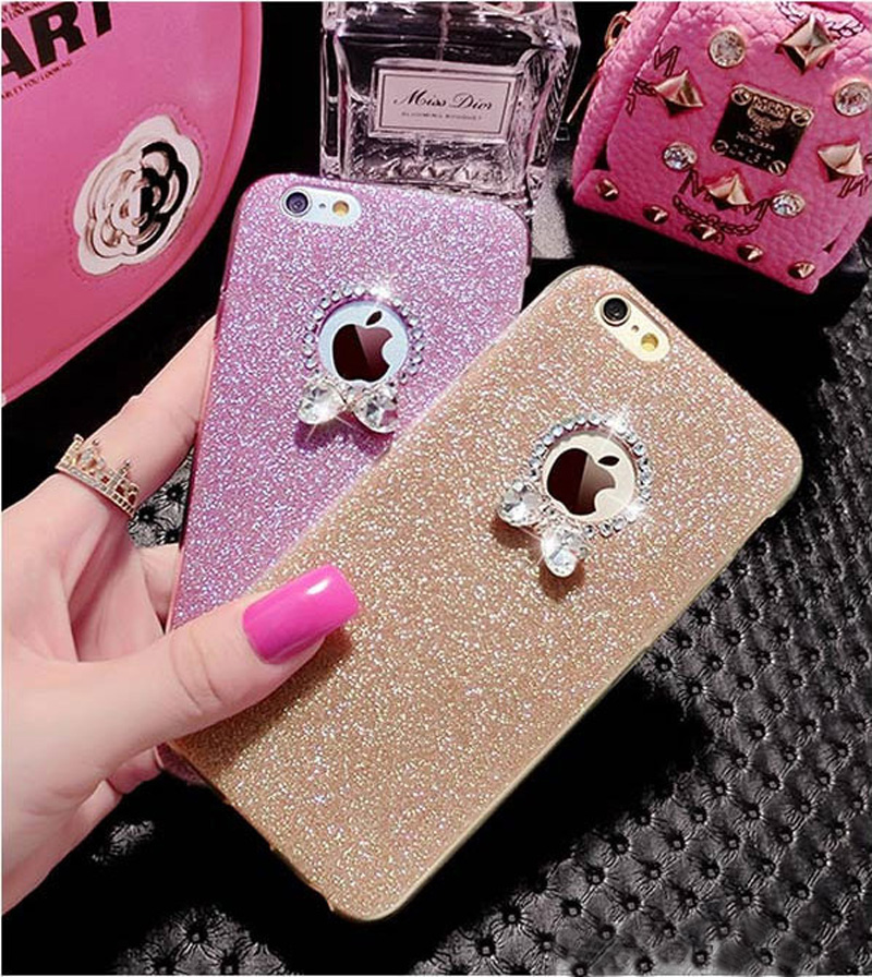 2018 Best Gold iPhone 8 7 6S And 6 Plus 5S SE Case Cover With Dazzling Diamond IPS623_7