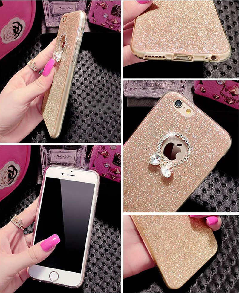 2018 Best Gold iPhone 8 7 6S And 6 Plus 5S SE Case Cover With Dazzling Diamond IPS623_9
