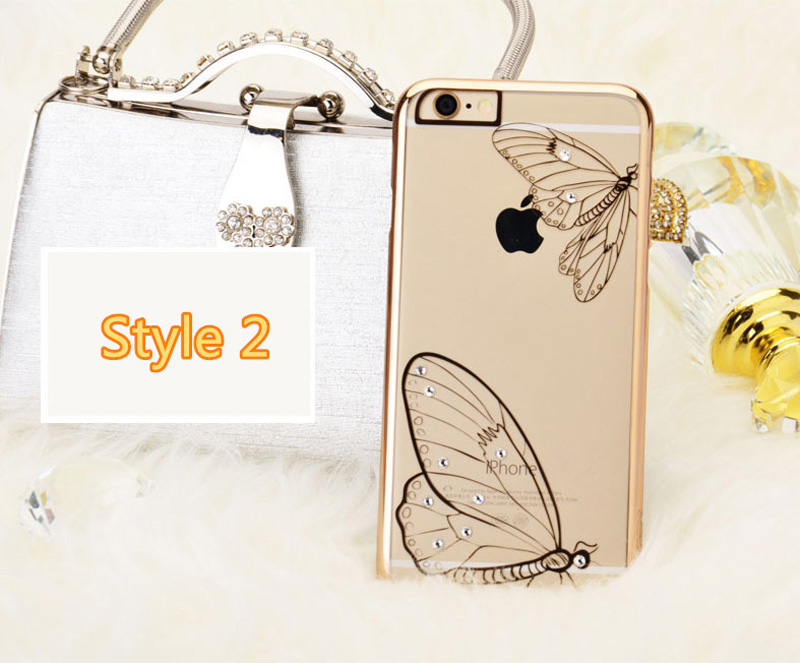Ultra-thin Transparent Protective Sleeve Cases With Flower Diamond For iPhone 6 And Plus IPS625_15