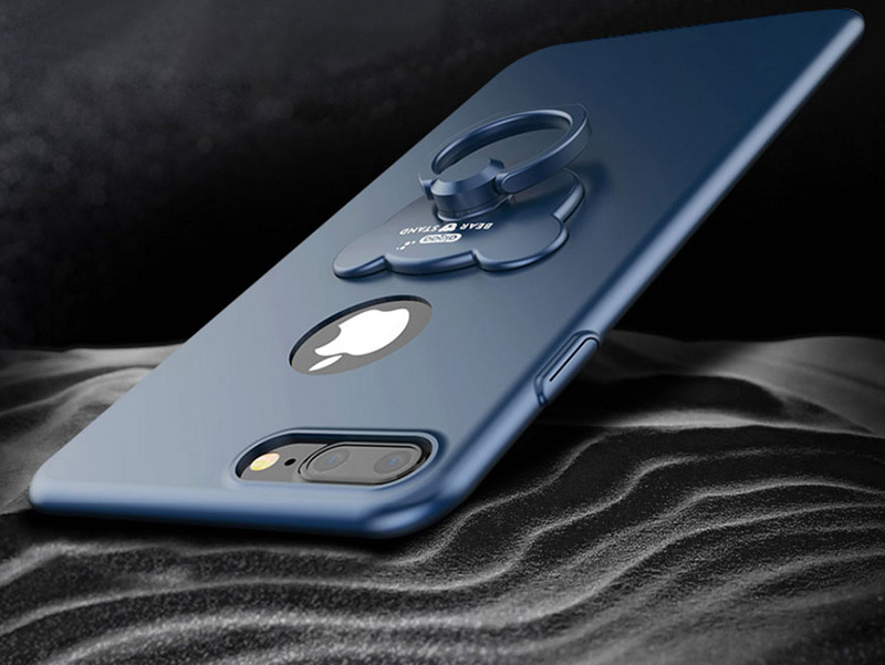 Perfect Blue iPhone X 8 7 6 Plus With Bear Shape Buckle IPS702_12
