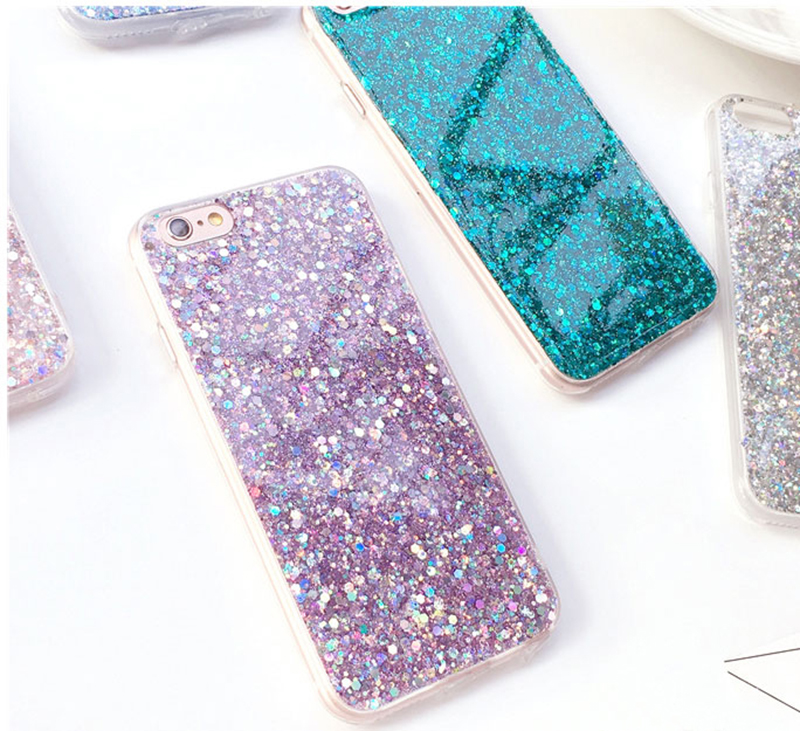Perfect Glitter iPhone X 8 7 6 6S Plus Silicone Case IPS706_10