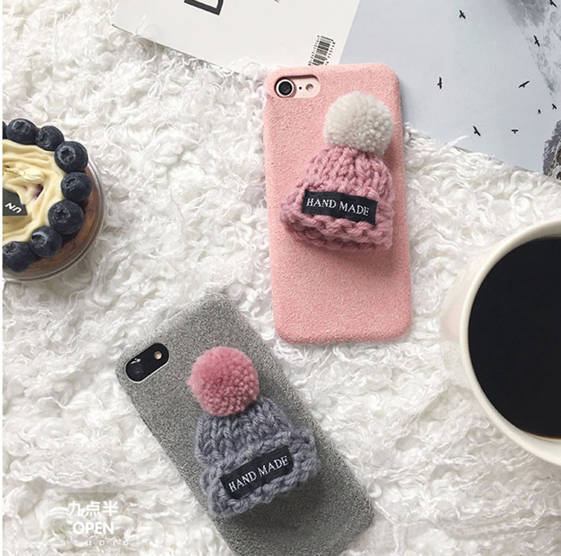 Handmade Wool Hat iPhone 8 7 6 6S Plus Soft Case Covers IPS708_10