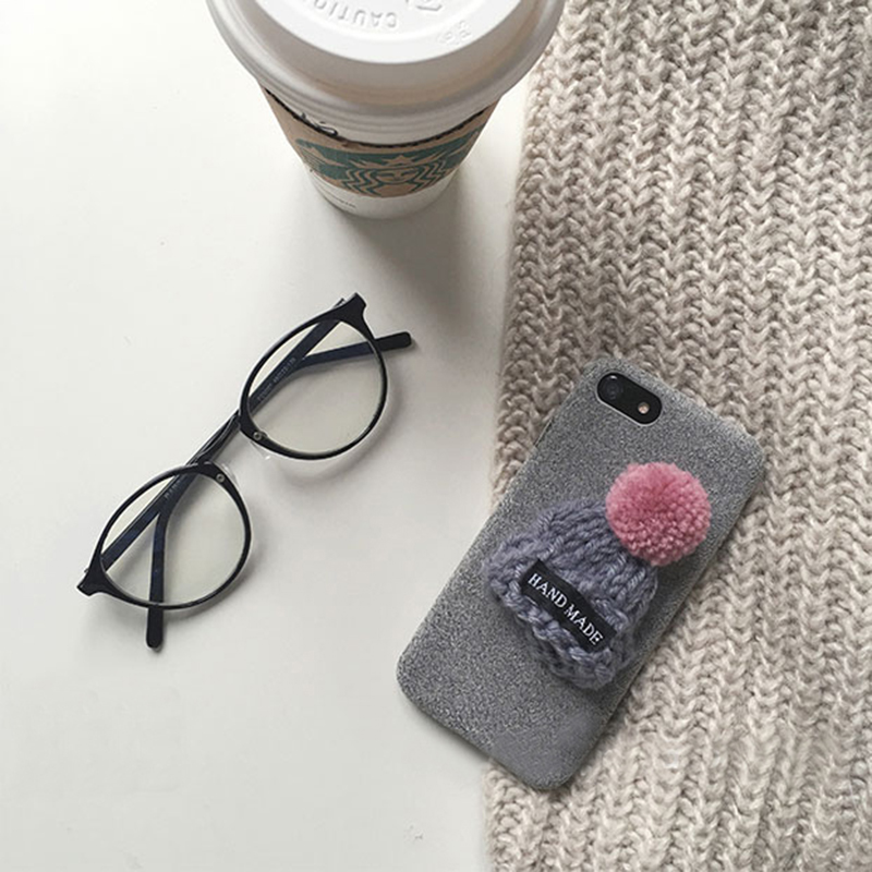 Handmade Wool Hat iPhone 8 7 6 6S Plus Soft Case Covers IPS708_11