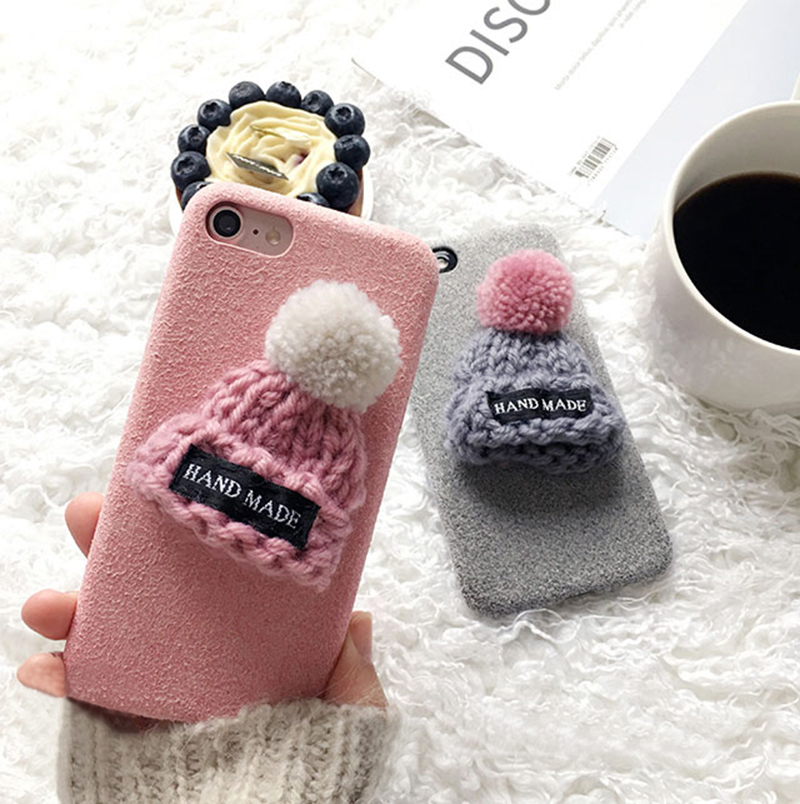 Handmade Wool Hat iPhone 8 7 6 6S Plus Soft Case Covers IPS708_8