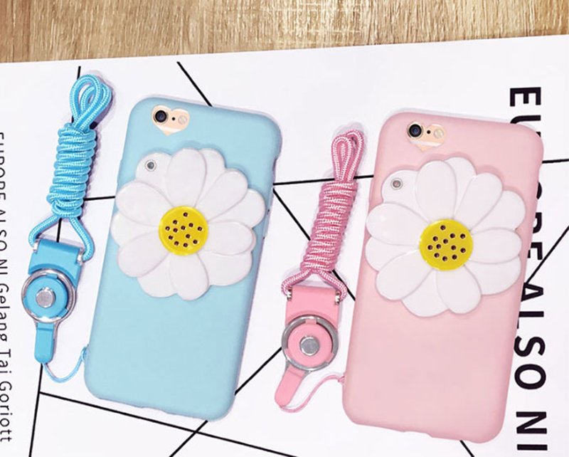 Flower Pattern Silicone Case Cover With Mirror For iPhone 8 7 6 6S Plus IPS710_10