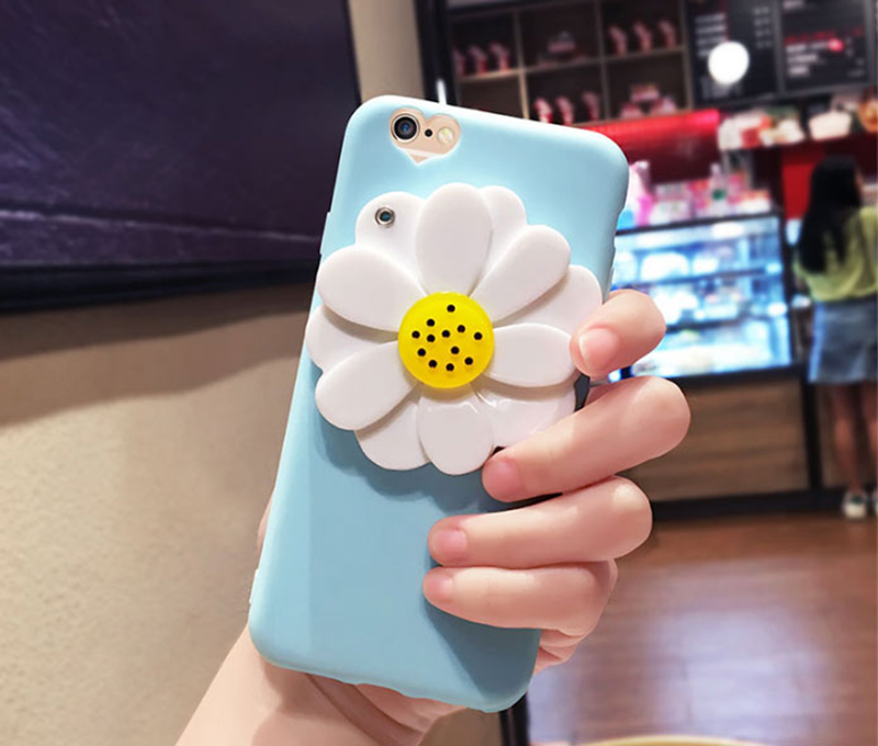 Flower Pattern Silicone Case Cover With Mirror For iPhone 8 7 6 6S Plus IPS710_11