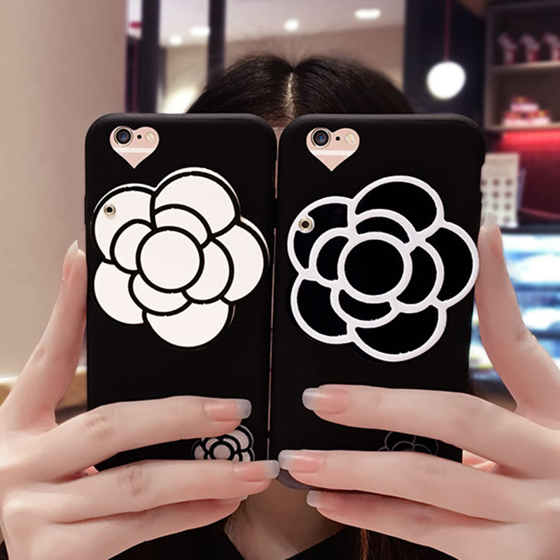 Flower Pattern Silicone Case Cover With Mirror For iPhone 8 7 6 6S Plus IPS710_8