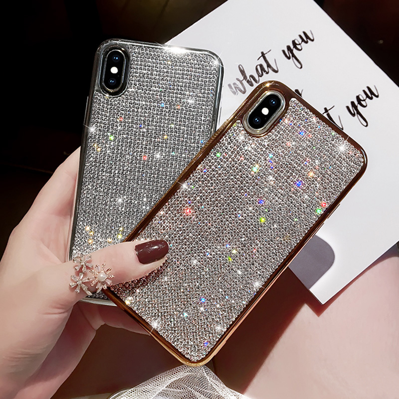 Glitter Diamond Silicone Case For iPhone X XR XS Max IPXSM06_8
