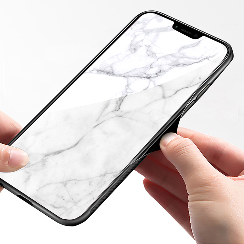 Creative All-inclusive Marble iPhone 7 8 X XR XS Max Silicone Case Cover IPXSM07_8