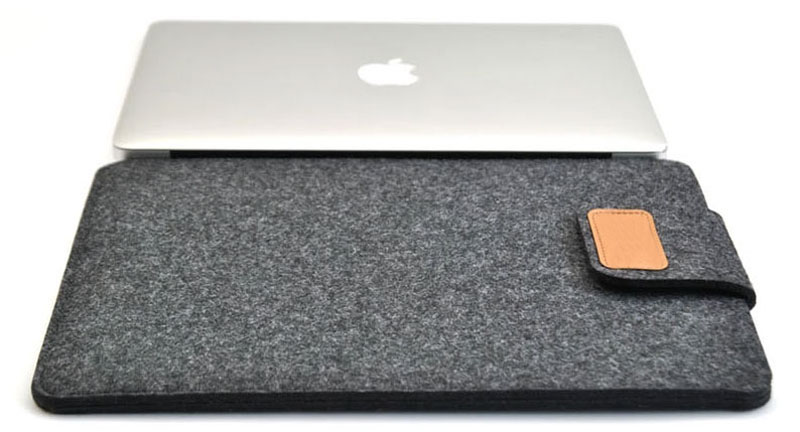 2019 Best Light Gray 12 Inch Leather Macbook Sleeve Bags MB1201_15