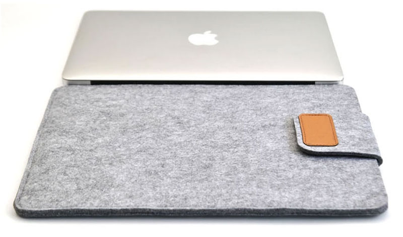 2019 Best Light Gray 12 Inch Leather Macbook Sleeve Bags MB1201_16