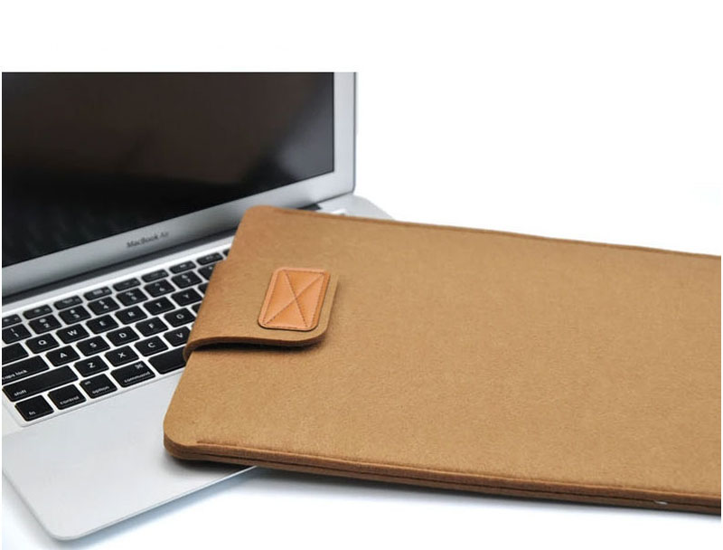 2019 Best Light Gray 12 Inch Leather Macbook Sleeve Bags MB1201_17