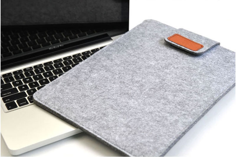 2019 Best Light Gray 12 Inch Leather Macbook Sleeve Bags MB1201_19