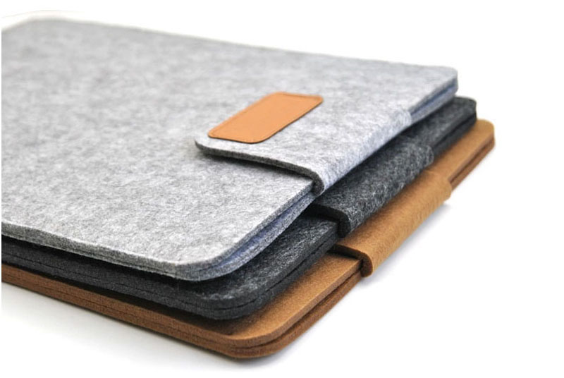 2019 Best Light Gray 12 Inch Leather Macbook Sleeve Bags MB1201_20